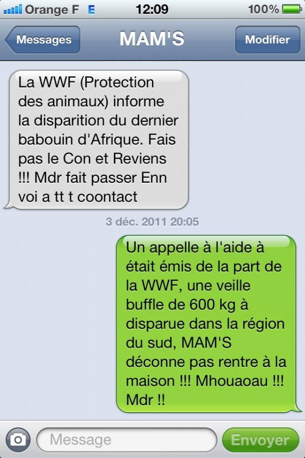blague drole en message